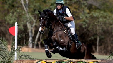 RIO DE JANEIRO, BRAZIL - AUGUST 08:  Marcelo Tosi of Brazil, riding Glenfly, competes in Cross Country during the Eventing Individual competition at the Olympic Equestrian Center at Deodoro Olympic Park on August 8, 2015 in Rio de Janeiro, Brazil.  (Photo