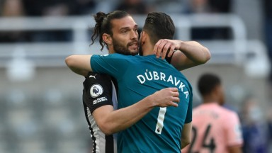 Andy Carroll (L) was released from his contract by Newcastle