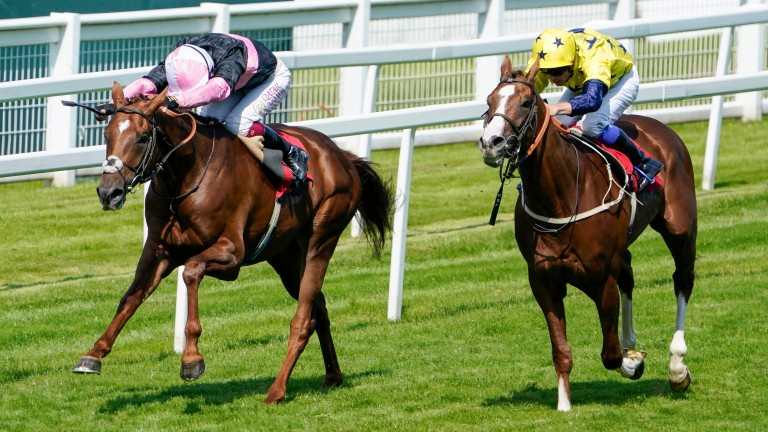Classic Lord (left) gives Oisin Murphy the middle leg of a Sandown treble