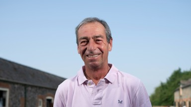 Trainer William Jarvis in the yard at Phantom House StablesNewmarket 21.7.21 Pic: Edward Whitaker