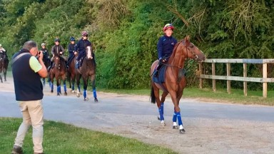 Frankie Dettori and Stradivarius are the centre of attention this morning