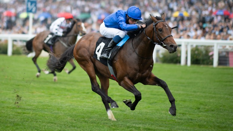 New Science (William Buick) wins the Pat Eddery StakesAscot 24.7.21 Pic: Edward Whitaker