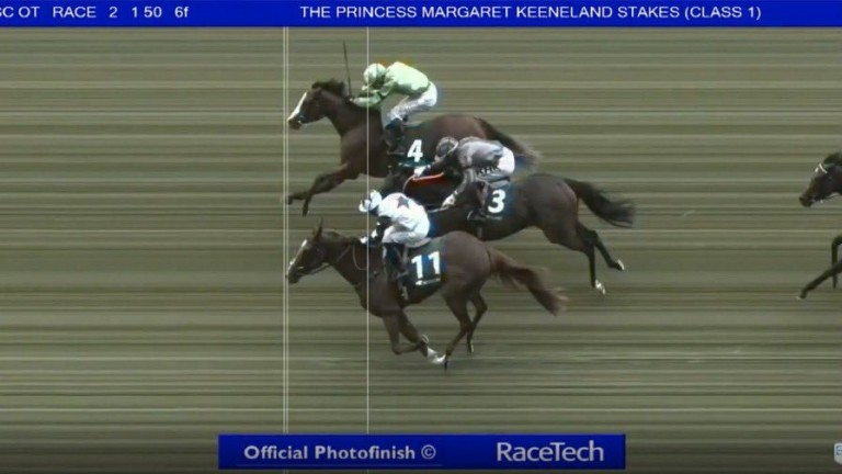 Zain Claudette: won by the narrowest of margins at Ascot