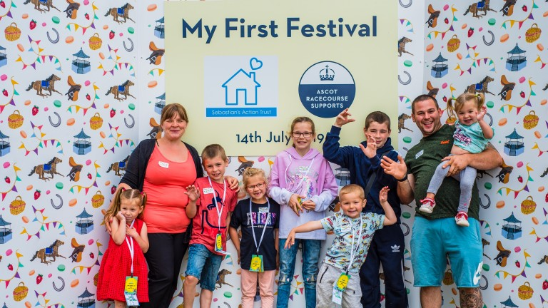 Ascot first staged Sebastian's Action Trust's Christmas in July party in 2019
