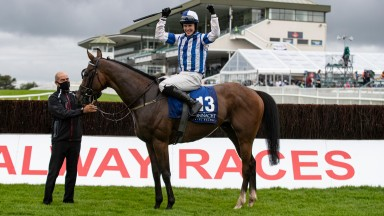 Coltor and Finny Maguire wins the Connacht Q.R. Handicap.Galway Festival day 1.Photo: Patrick McCann/Racing Post26.07.2021