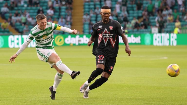 Celtic's Callum McGregor in action against Midtjylland last week