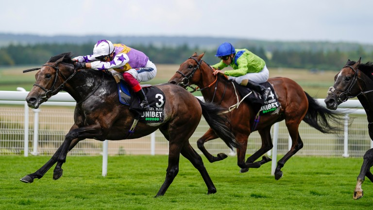 Angel Bleu strides to success in the Group 2 Unibet Vintage Stakes