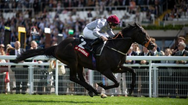 Armor (Ryan Moore) wins the Molecomb StakesGlorious Goodwood 28.7.21 Pic: Edward Whitaker
