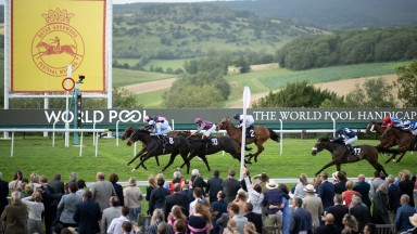 Magical Wish beats Hieronymus in the 7f handicapGlorious Goodwood 28.7.21 Pic: Edward Whitaker