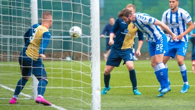 Kilmarnock find the net against East Kilbride in the Scottish League Cup