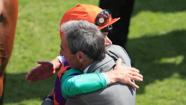 William Jarvis and Kieran Shoemark after the success of Lady Bowthorpe at Goodwood