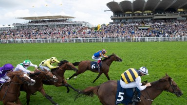 Ottoman Emperor: Ben Coen guides the rapidly-improving three-year-old to victory in the Gordon Stakes at Goodwood