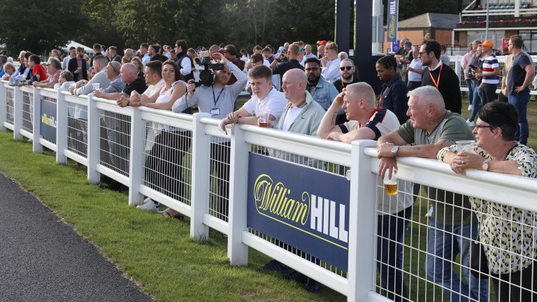 Punters watch on at the first of six Racing League meetings