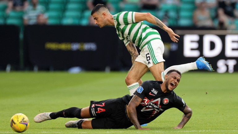 Nir Bitton doesn't convince at the heart of the Celtic defence