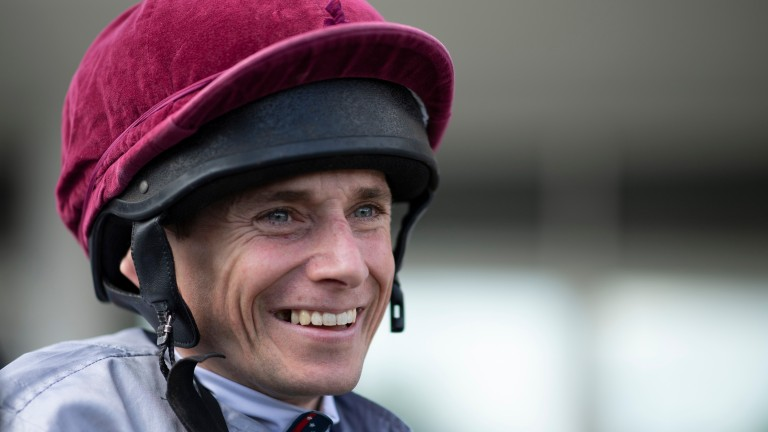 Ryan Moore rode a quickfire hat-trick at Leicester on Tuesday