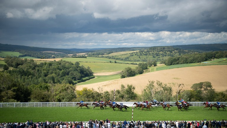 Maydanny (Jim Crowley) wins the Golden Mile HandicapGoodwood 29.7.21 Pic: Edward Whitaker