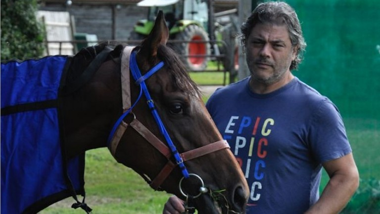 Cem Sevim with his star filly Light Of Darkness