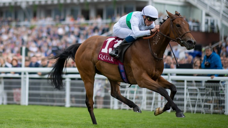 Suesa wins the Group 2 King George Stakes at Glorious Goodwood