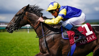 CHICHESTER, ENGLAND - JULY 31: William Buick riding Wonderful Tonight win The Qatar Lillie Langtry Stakes during the Qatar Goodwood Festival at Goodwood Racecourse on July 31, 2021 in Chichester, England. (Photo by Alan Crowhurst/Getty Images)