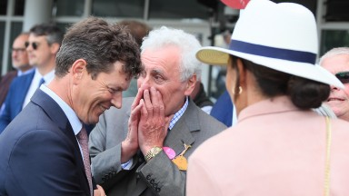 Andrew Balding (left)shares a smile with Alcohol Free's owner Jeff Smith
