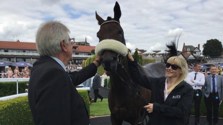 Judicial gets an appreciative pat from a member of the Elite Racing Club