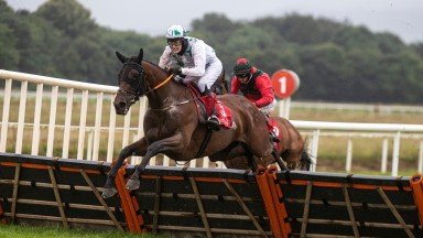 Hattie Amarin and Niamh Fahey land the first division of the mares handicap hurdle at Cork