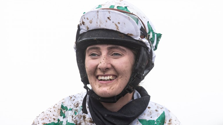 A delighted Niamh Fahey after her victory on Hattie Amarin at Cork