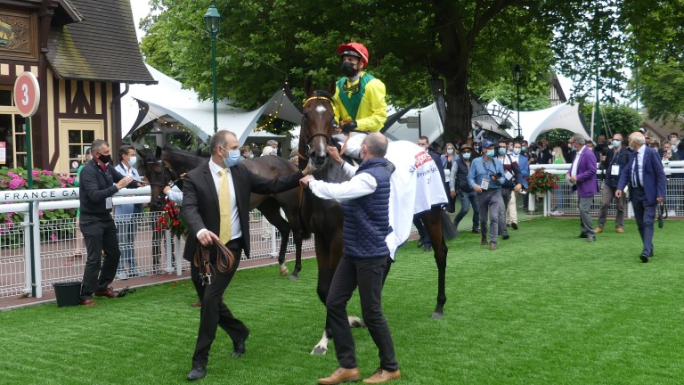 Penja and Cristian Demuro snatched victory in Deauville's Prix de Psyche Sky Sports Racing