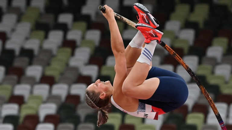 Holly Bradshaw is going for Britain's first medal of any colour in the women's pole vault