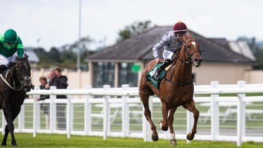 Ebro River and Shane Foley winning the Keeneland Phoenix Stakes (Group 1).The Curragh.Photo: Patrick McCann/Racing Post08.08.2021