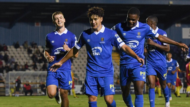 Phoenix Patterson celebrates during Waterford's FAI Cup win over Kilnamanagh