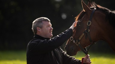 Gordon Elliott and Tiger Roll.Cullentra House Stables.Photo: Patrick McCann/Racing Post01.09.2021