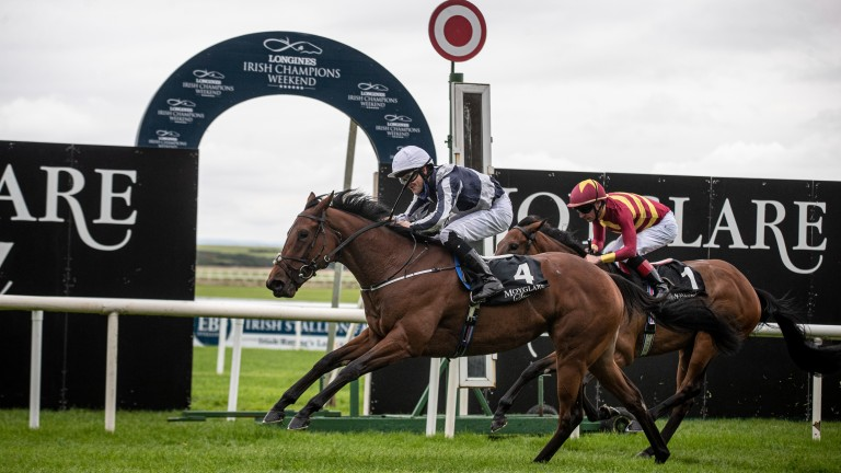 Discoveries: got the better of Agartha in the Moyglare Stud Stakes