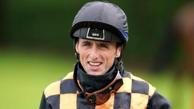 Jockey Trevor Whelan at Nottingham racecourse on July 5, 2021