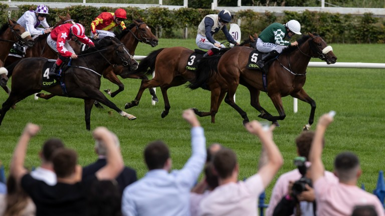 Leopardstown: hosted 4,000 spectators for day one of Longines Irish Champions Weekend