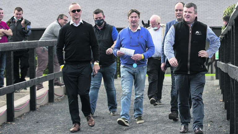Gordon Elliott (right): back among the winners since return on Tuesday