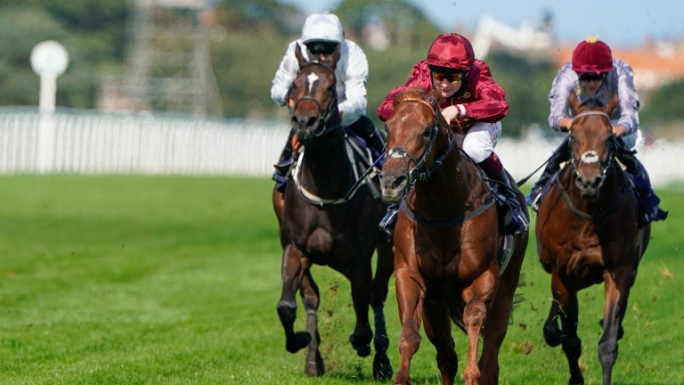 Millenial Moon bounds clear for an impressive victory at Yarmouth
