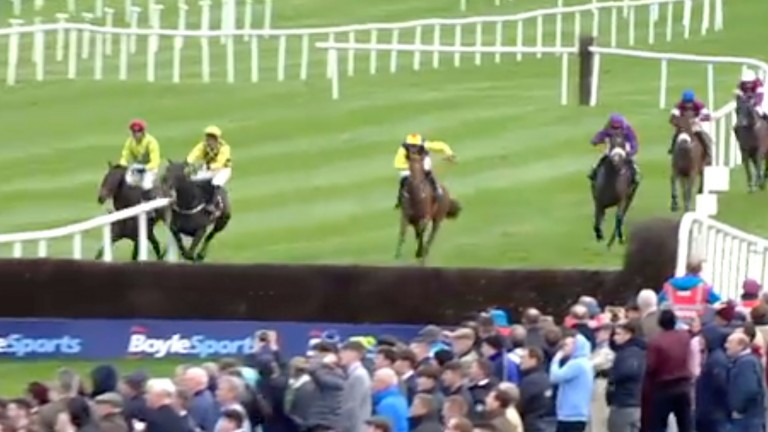 Al Boum Photo heads the wrong side of the rail, the leader also taking out Finian's Oscar