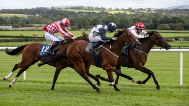Eurocrat and Shane Foley complete a treble for Jessica Harrington at Naas