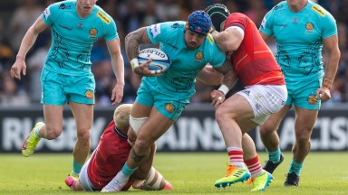 Exeter Chiefs' Jack Nowell (centre) in pre-season action against Munster