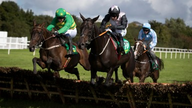 French Made (left) wins the mares hurdle at Listowel, after whuch third-placed No Memory (not in shot) was suspended under rule 212