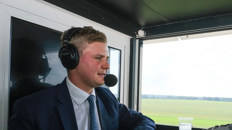George Boughey: star of the show at Newmarket on Saturday
