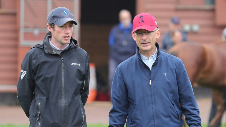 Up-and-coming trainer Harry Eustace and leading agent Anthony Bromley compare notes