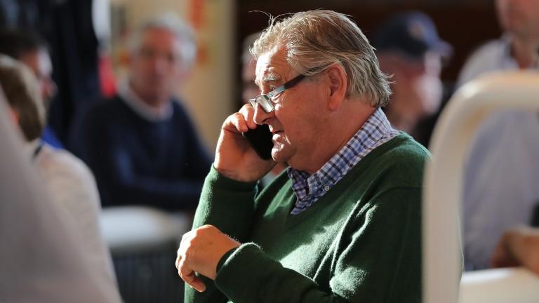 Noel Meade in deliberations during the bidding