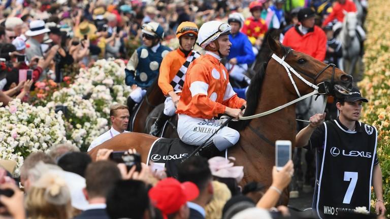 Melham (white cap): is a multiple Group 1-winning jockey in Australia