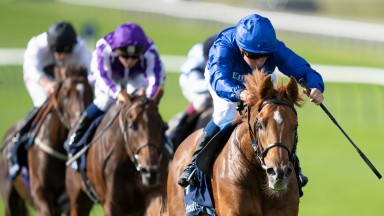 Modern Games (William Buick) win the Tattersalls StakesNewmarket 23.9.21 Pic: Edward Whitaker