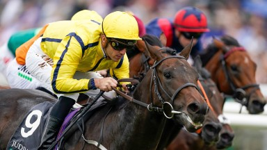 Christophe Soumillon and Perfect Power win the Middle Park