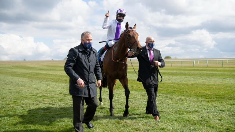 Poetic Flare after landing the 2,000 Guineas