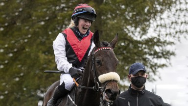 Linzi Dowdall returns in delight on 66-1 shot Khezaana after winning at the Curragh on Sunday