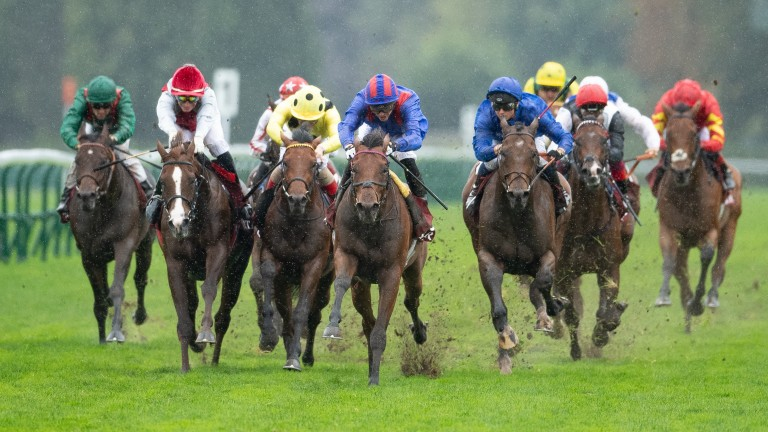 Dubai Honour (striped cap) was supplemented for the Champion Stakes earlier in the week